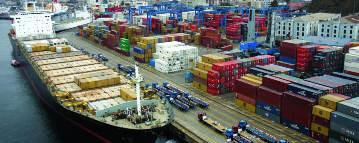 foto puerto, containers, carga
